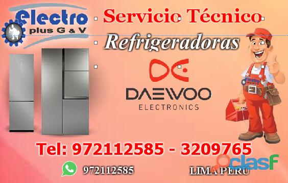 servicio al día, Servicio Técnico de refrigeradoras daewoo, 972112585
