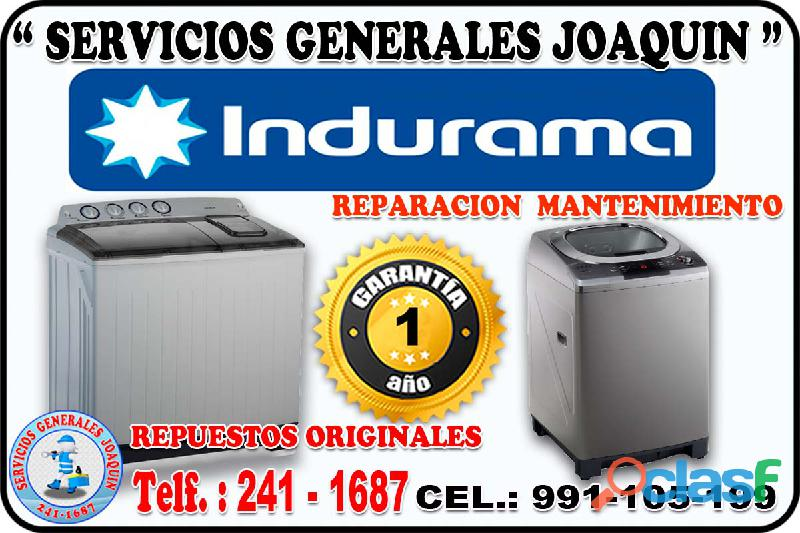 Servicio técnico ** INDURAMA ** lavadoras, lavasecas, refrigeradores 241 1687