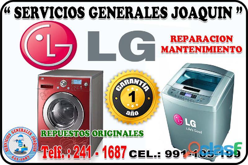 Reparacion * l g * lavadoras, secadoras, refrigeradoras 241 1687 en todo lima