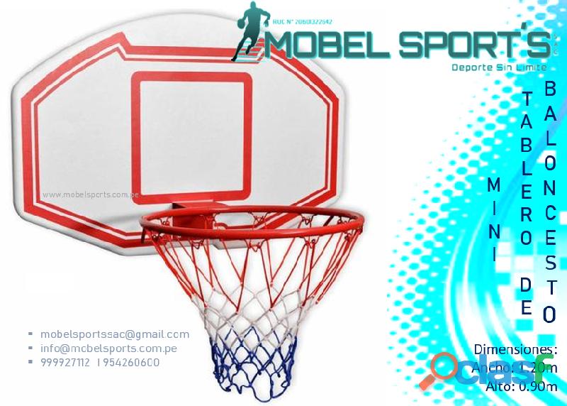 Tablero de basquet de madera para niños