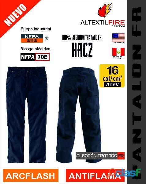 Pantalon antiflama arcflash 16 cal/cm2, hrc2
