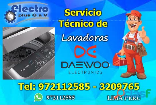 servicio alegre, servicio técnico de lavadoras daewoo, 972112585