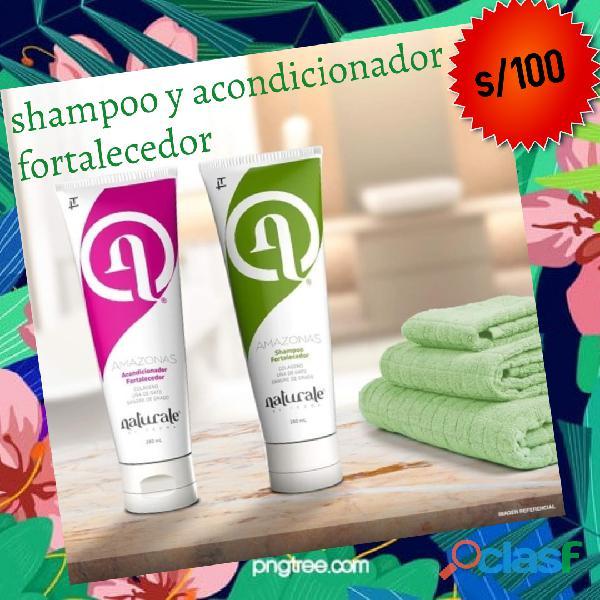 Shampoo y acondicinador fortalecedor