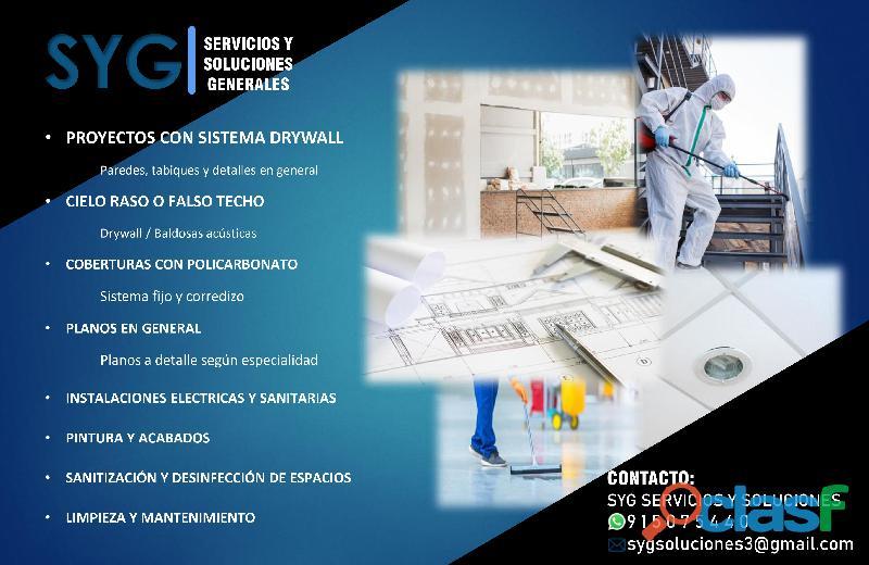 Servicios generales / drywall / cielo raso
