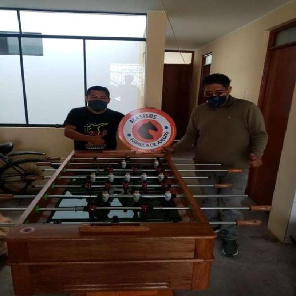 Mesa de fulbito ping pong ajedrez billas