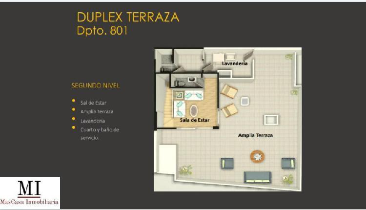 Duplex de estreno en boulevard san borja - edificio frente a