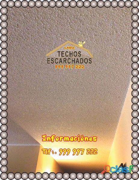 Así se realiza el trabajo de gotelé escarchado de techo tlf:. 999 997 222