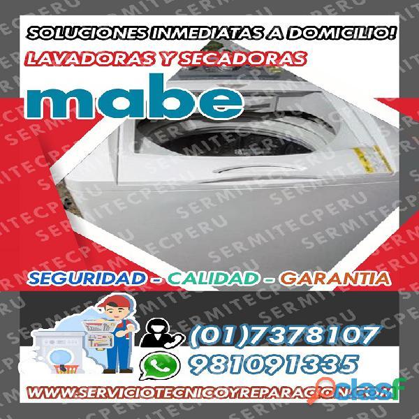 Consultas! TECNICOS Lavadoras ·)»MABE«(·7378107. Puente piedra