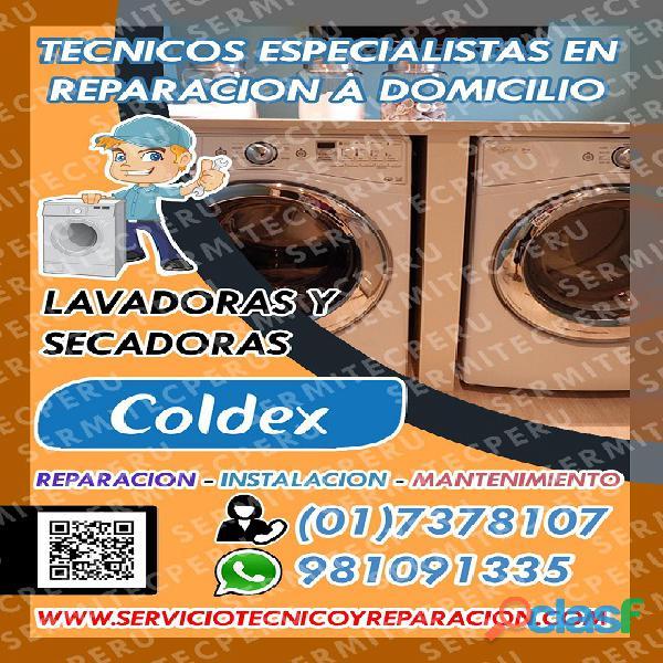 Eficaz! servicio tecnico::_lavadoras coldex::_981091335. miraflores