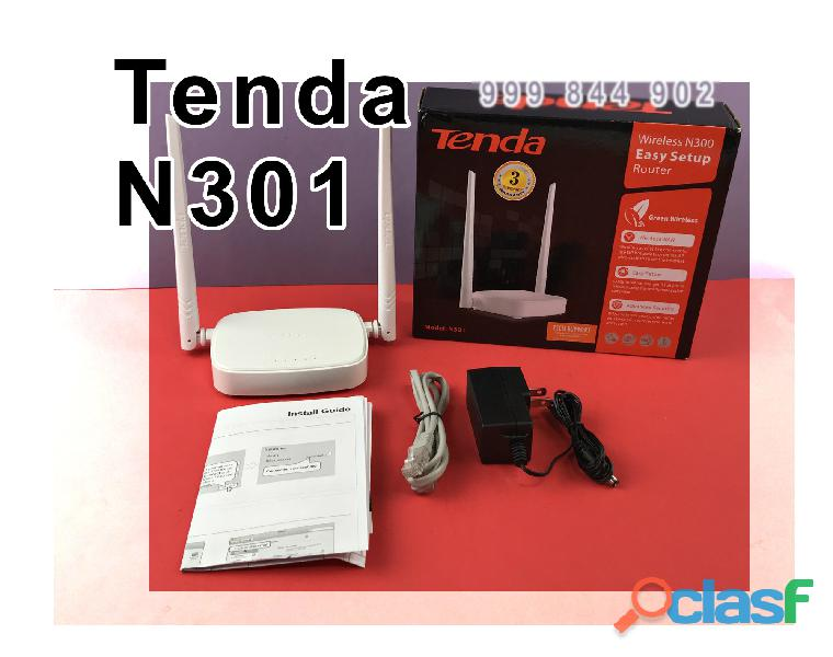 Tenda n301 doble antena router y repetidor wifi facil configuracion