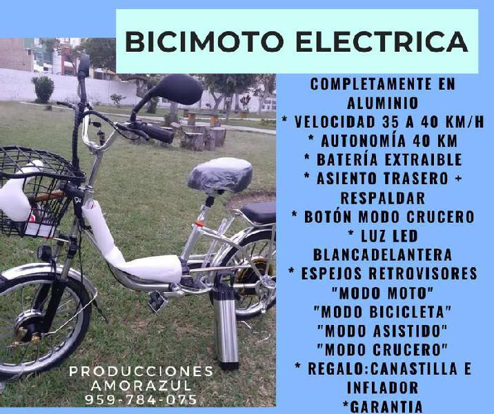 Bici-moto eléctrico