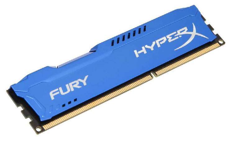Memoria kingston hyperx fury blue, 8gb, ddr3, 1333 mhz