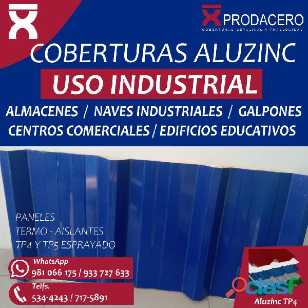 ALUZINC TR4 TR5 ESPRAYADO – COBERTURAS PRECIO LIMA