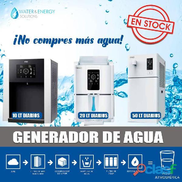 Equipos para generar agua potable del ambiente