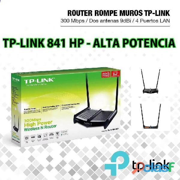 Router wifi alta potencia rompemuros tplink 841hp los olivos