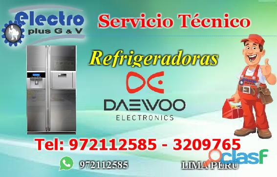 servicio pedido, Servicio Técnico de refrigeradoras daewoo, 972112585,