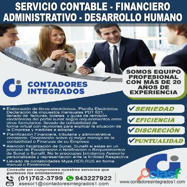 Servicios contables calidad y experiencia