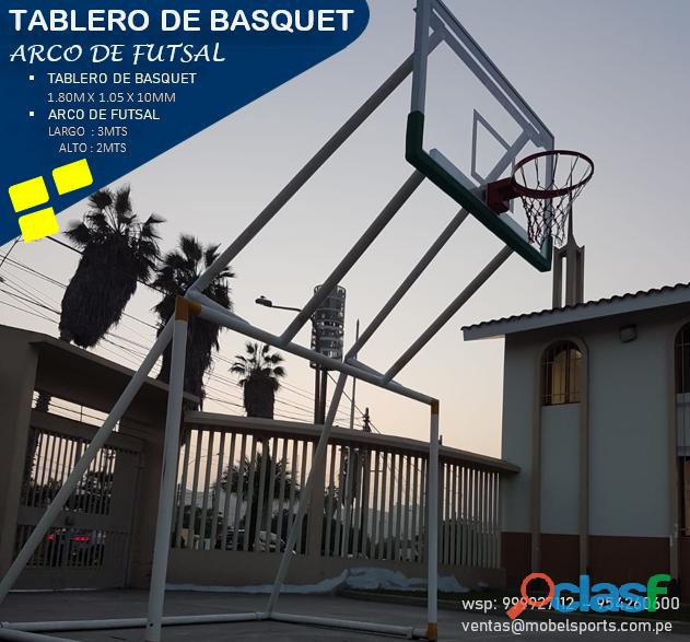 Arco de futsal con tablero de baloncesto