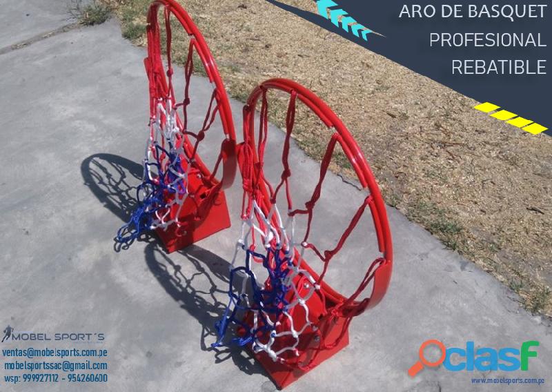Canasta de baloncesto profesional  rebatible  mobel sports