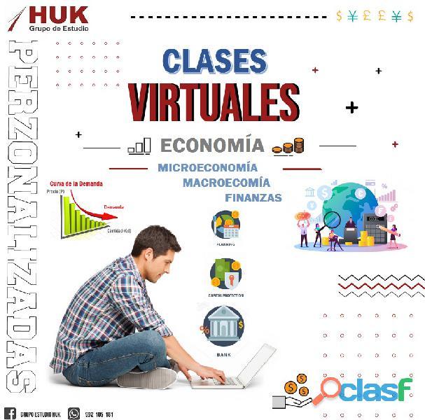 Clases virtuales de microeconomía
