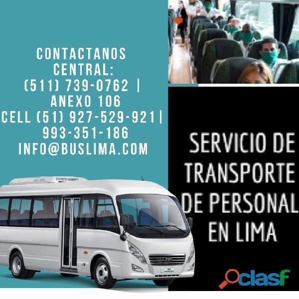 Alquiler de transporte de personal para empresas en Lima   Lima