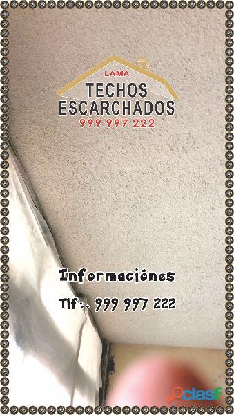 Revestimiento para techos y paredes, realizamos trabajos de gotelé escarchados.com tlf:. 999 997 222