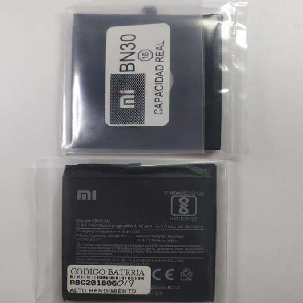 Bateria xiaomi redmi note 4a 4x 5a 6a note 7 3200mah