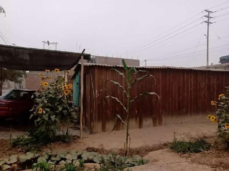 Vendo terreno con casa rústica.