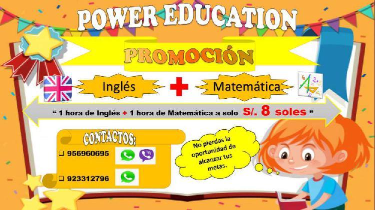 Clases lindas de ingles y matemática- promoción