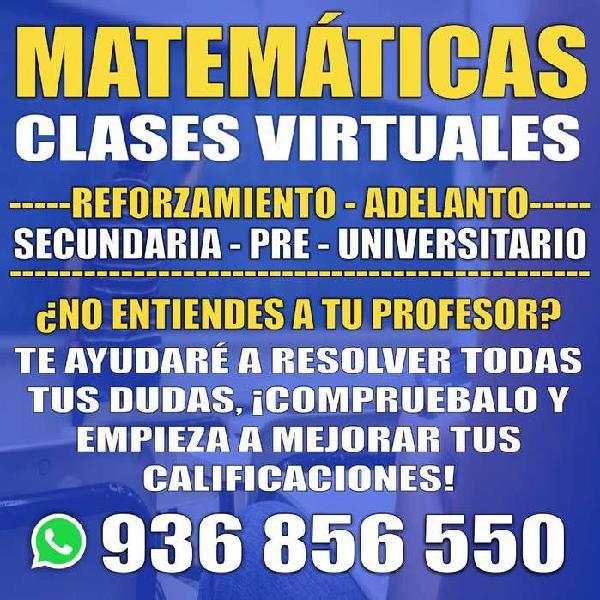 Clases de matemáticas virtuales - profesor de matemáticas