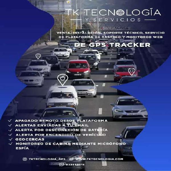 GPS TRACKER TODO INCLUIDO, rastreo satelital, monitoreo 24/