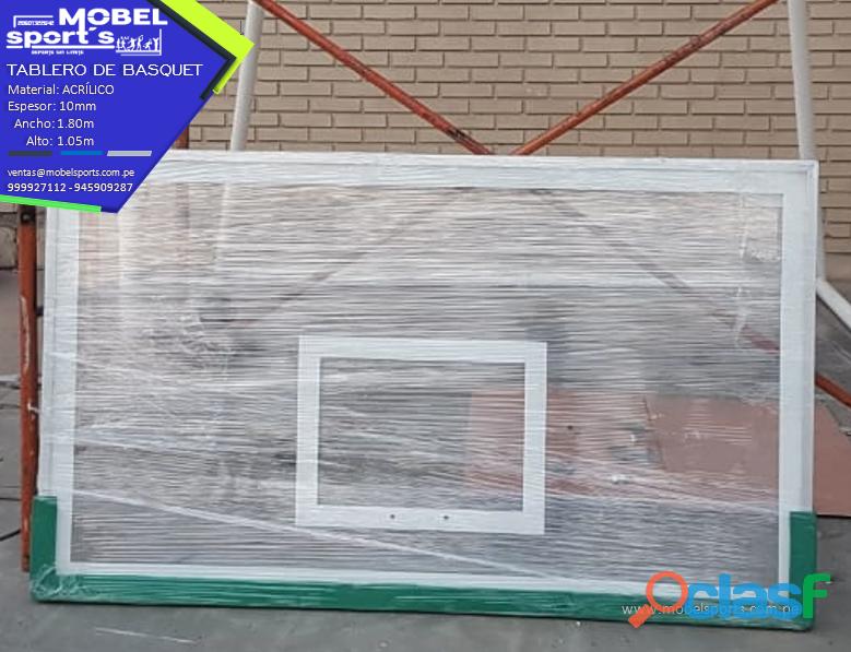 Canasta de baloncesto en acrilico   mobel sport`s