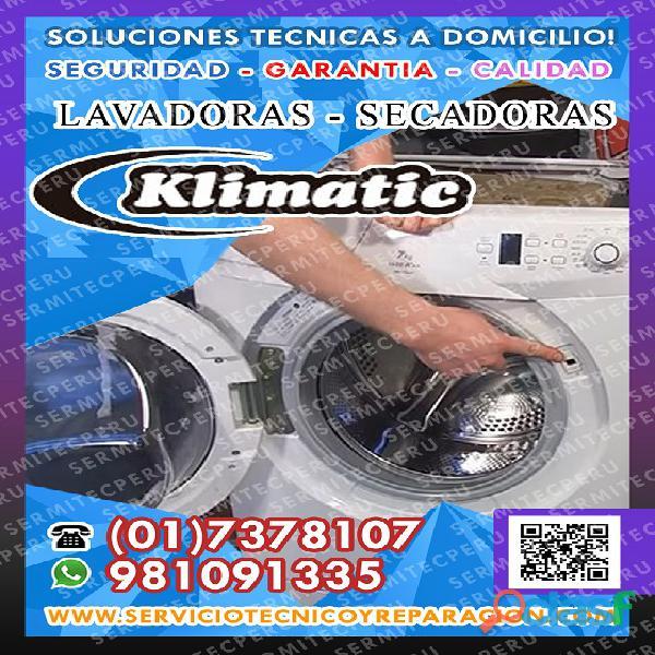 ¡a toda hora!! técnicos de lavadoras klimatic >> villa el salvador