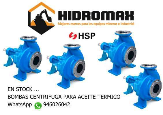 Bomba centrifuga para aceite termico en Lima