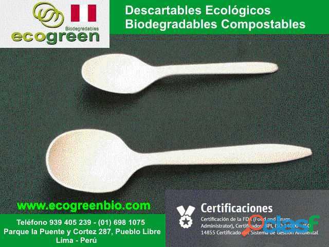 Descartables ECOLÓGICOS biodegradables para alimentos con certificación FDA Lima Perú 7