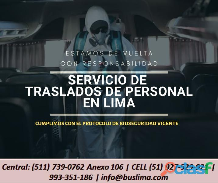 Servicio de Transporte de personal con Unidades COASTER   PERÚ