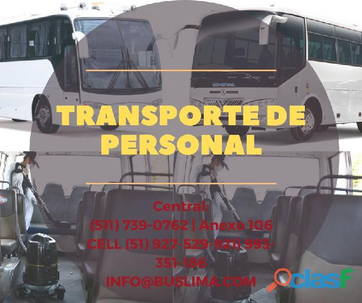 Alquiler de buses para transporte de personal de empresas . lima   perú