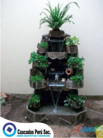 cascada artificial en pared, muro llorón, velo de agua, caida de agua 6