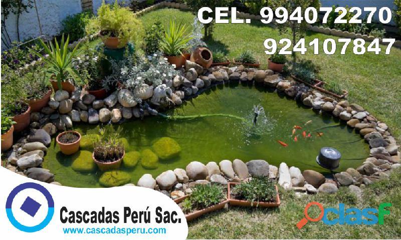 Estanques naturales para jardín, cascadas para peces, cascadas artificiales