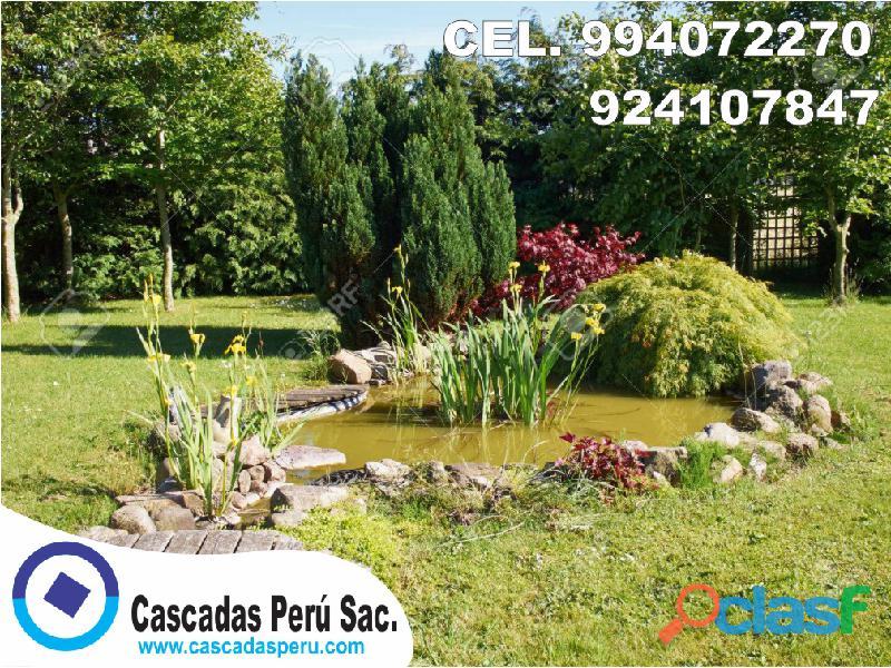 estanques naturales para jardín, cascadas para peces, cascadas artificiales 1