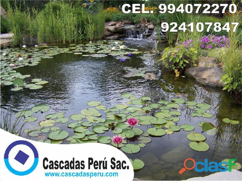 estanques naturales para jardín, cascadas para peces, cascadas artificiales 2