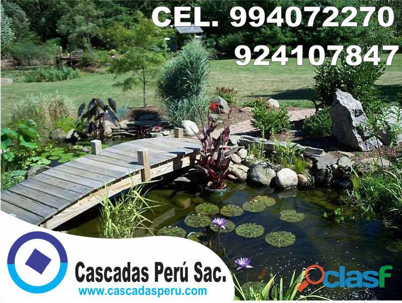 estanques naturales para jardín, cascadas para peces, cascadas artificiales 3