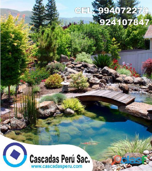 estanques naturales para jardín, cascadas para peces, cascadas artificiales 4