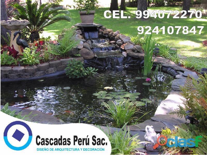 estanques naturales para jardín, cascadas para peces, cascadas artificiales 5