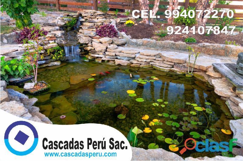 estanques naturales para jardín, cascadas para peces, cascadas artificiales 6