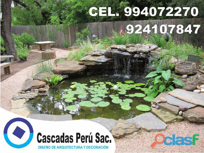 estanques naturales para jardín, cascadas para peces, cascadas artificiales 10