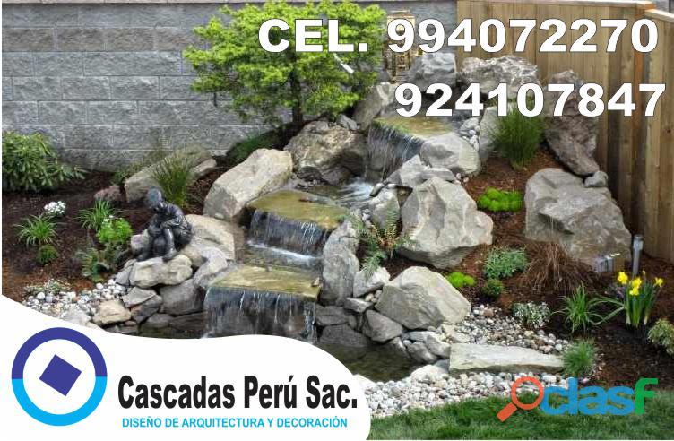 estanques naturales para jardín, cascadas para peces, cascadas artificiales 11