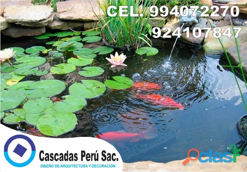 estanques naturales para jardín, cascadas para peces, cascadas artificiales 12