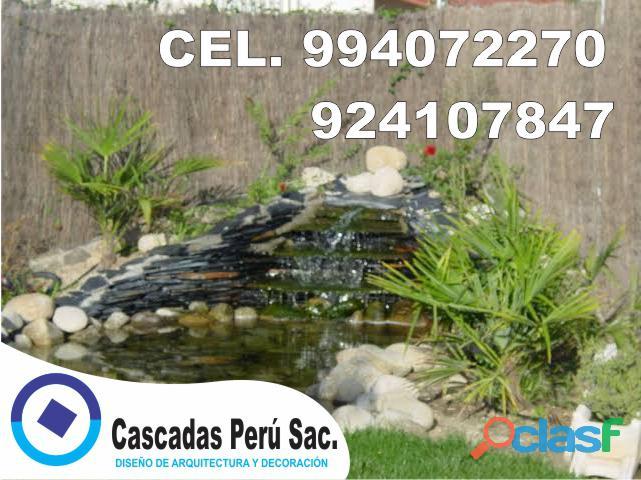 estanques naturales para jardín, cascadas para peces, cascadas artificiales 13