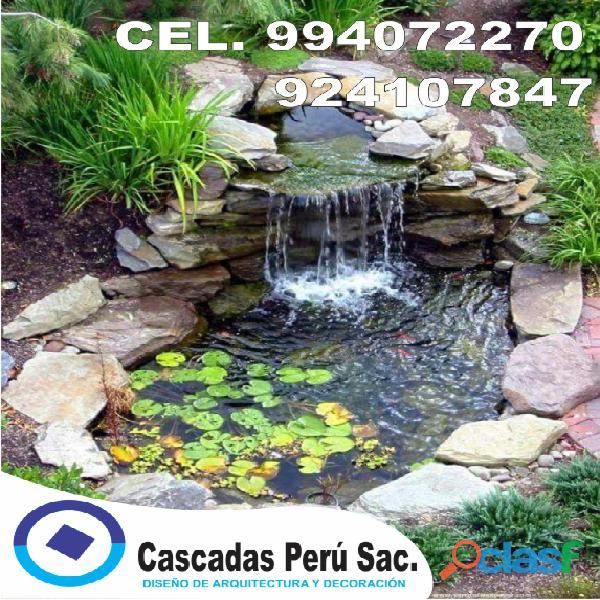 estanques naturales para jardín, cascadas para peces, cascadas artificiales 15